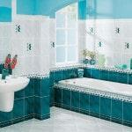Выкладка плитки в ванной