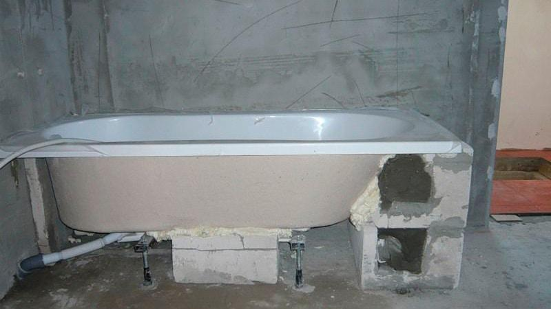 Установить ванну