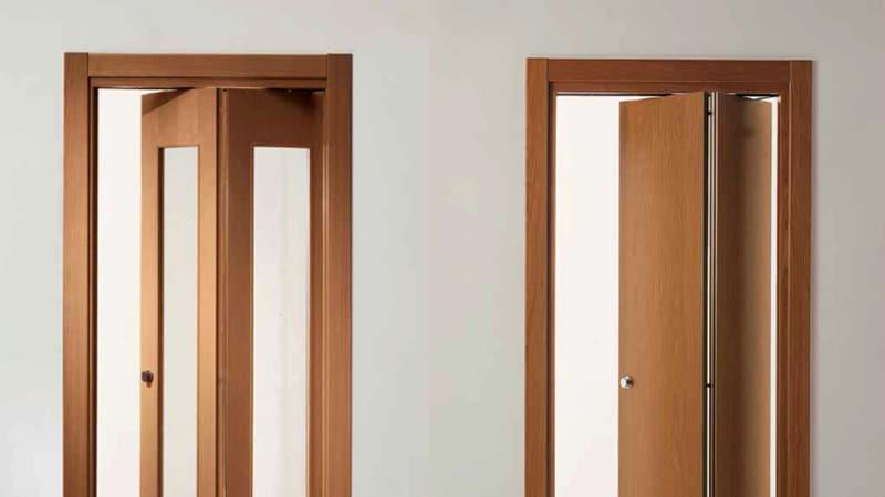 Дверь гармошка в ванной