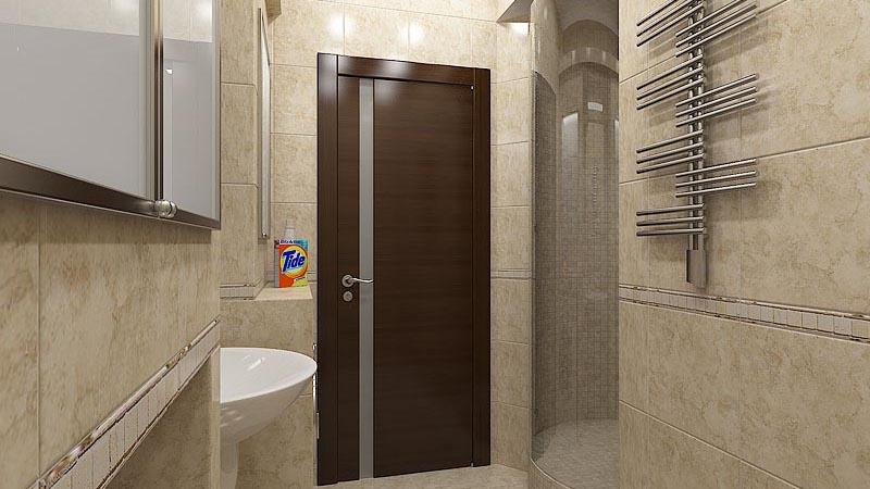 Глухой дверной блок в ванную