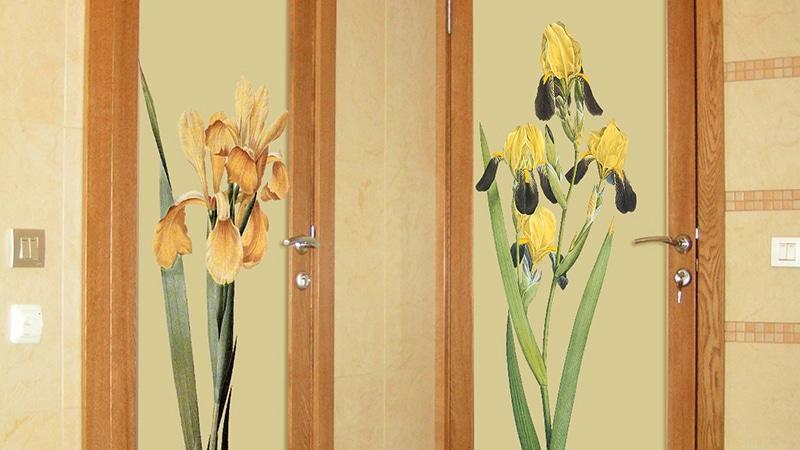 Типы декоративных наклеек для дверей