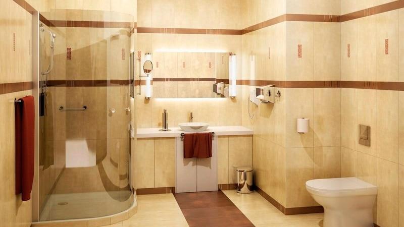 Керамогранит на стены в ванной
