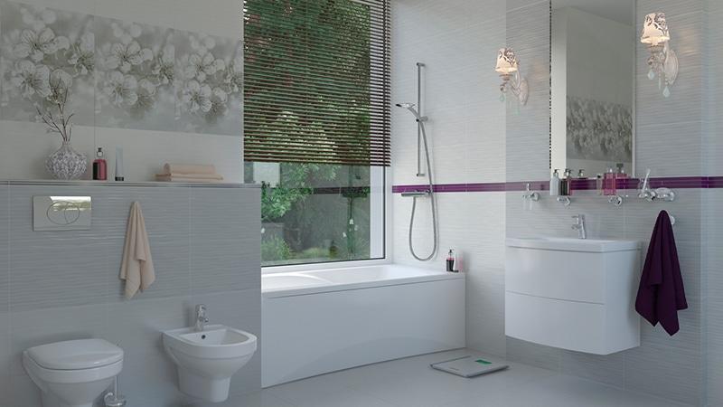 Коллекция плитки для ванной и туалета