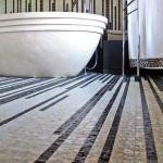 Вариант раскладки плитки линиями