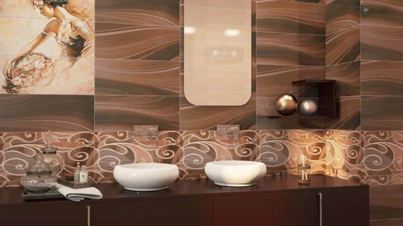 Дизайн санузла с керамической облицовкой