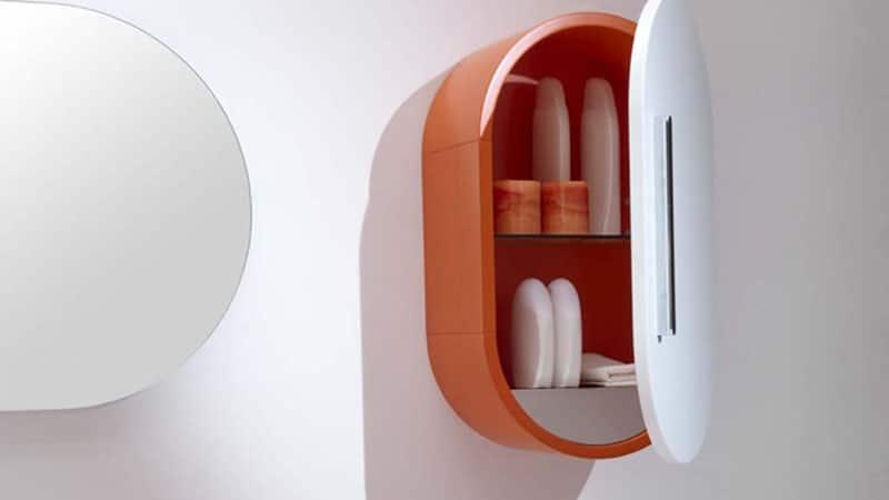 Дизайн подвесных шкафов в ванной комнате