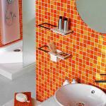 Дизайн ванной в стиле апельсина