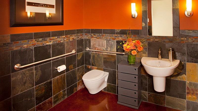 Orange bathroom ideas