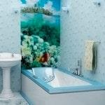 Оформление ванны пластиком