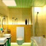 Пластиковая плитка в ванную