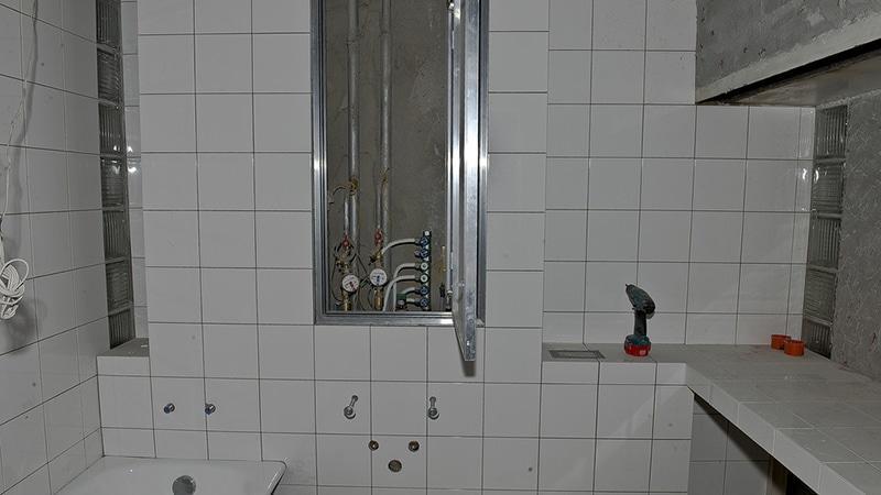 Стандартная отечественная плитка для ванной старого образца