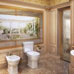 Дизайн туалета с элементами барокко