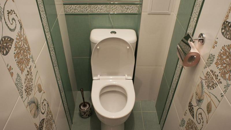Плитка для туалета , характерная для экостиля