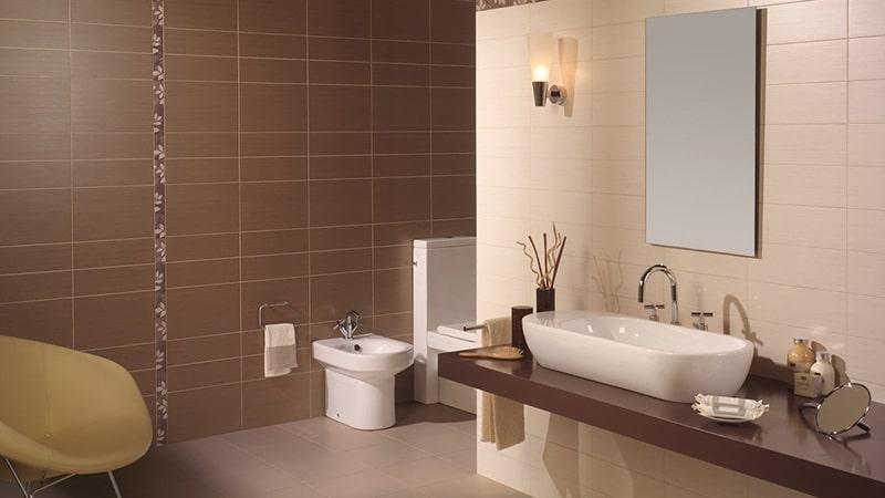 Матовая плитка в интерьере ванной