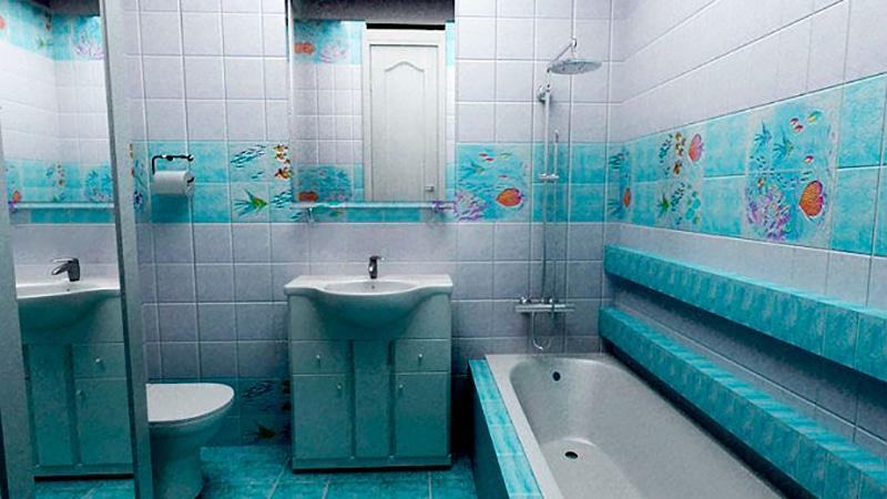 Керамическая плитка для ванной своими руками