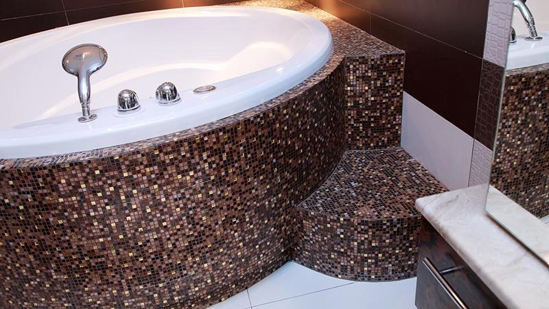 Ванная комната из мозаики фото