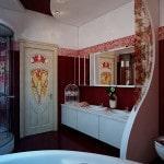 Плитка в ванную - авангардный стиль