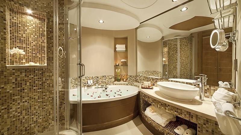 Плитка-мозаика в ванной комнате