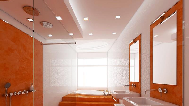 Гипсокартонный потолок в ванной комнате своими руками