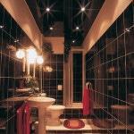 Подвесной потолок в ванную комнату