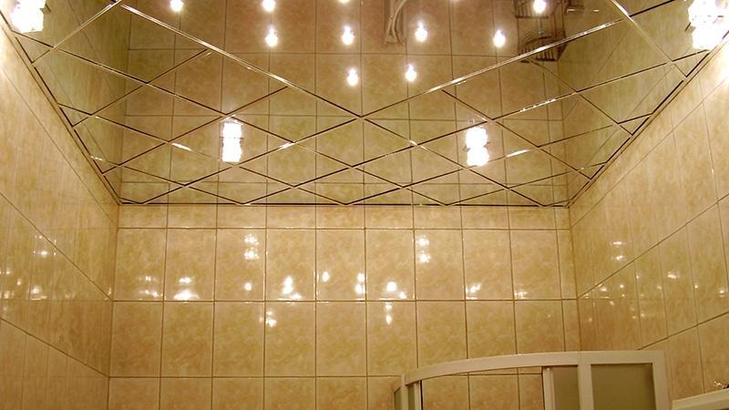 Подвесной потолок в ванне