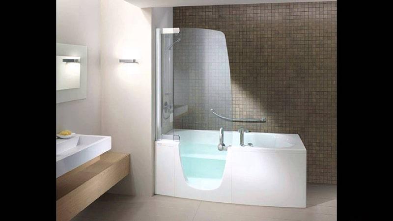 Раздвижная шторка на неполную длину ванны