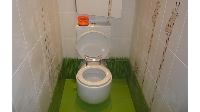 Как сделать необычный пол в туалете