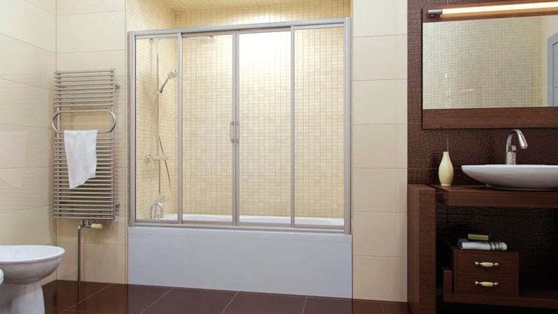 Раздвижные шторки для ванны своими руками