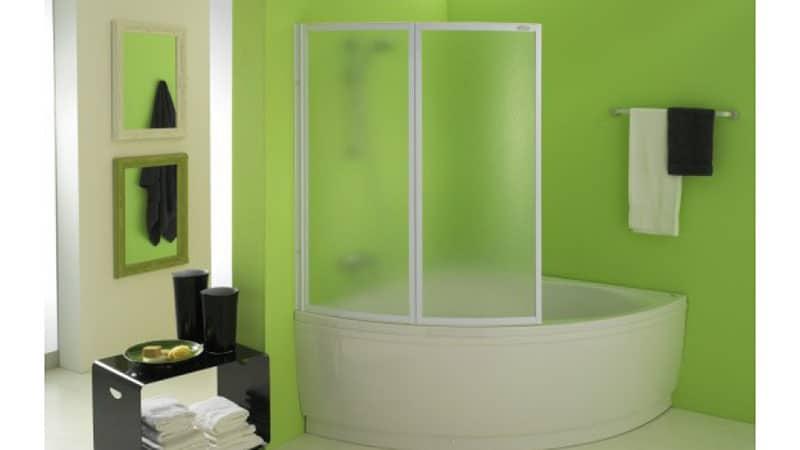 Пластиковая шторка-гармошка для ванной
