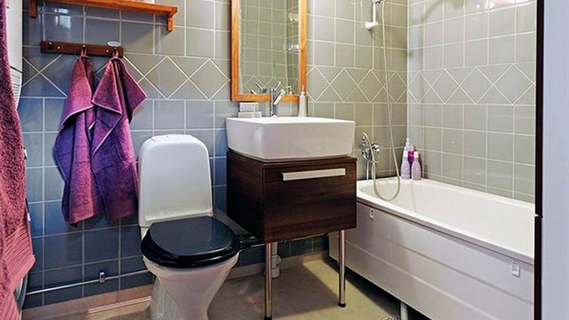 Совмещенная душевая кабина с туалетом дизайн 3 кв м 124