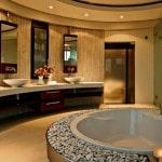 Современный стильный дизайн ванной комнаты