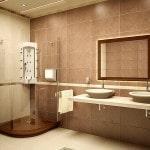 Современный дизайн в ванной комнате