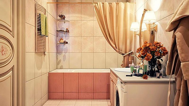 Современный недорогой дизайн ванной комнаты