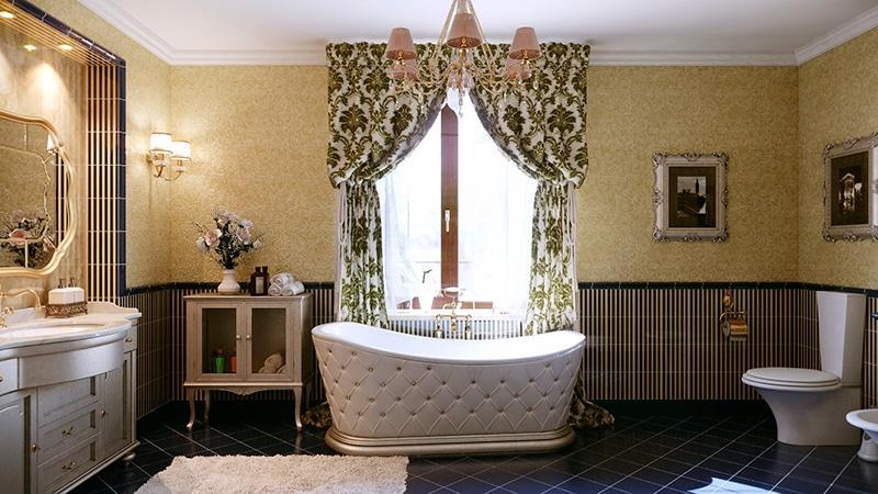 Изысканный дизайн ванной комнаты