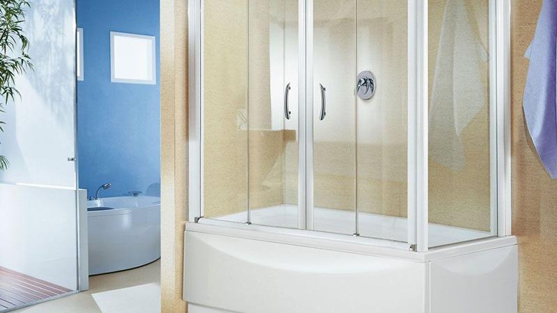 Дверцы на ванну и душевую из стекла