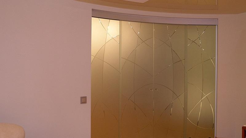 Конфигурация стеклянного дверного блока