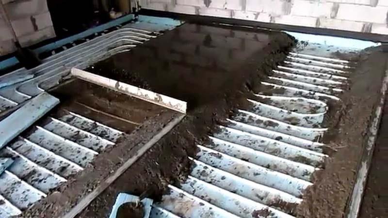 Стяжка на водяной пол