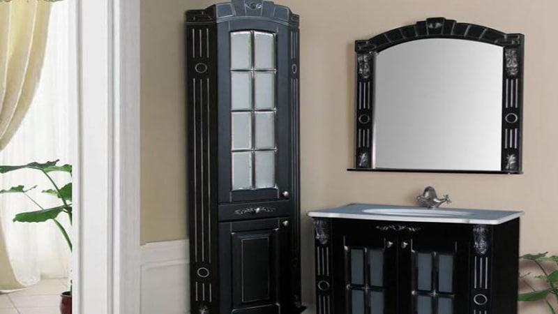 Угловой шкаф-пенал для ванной