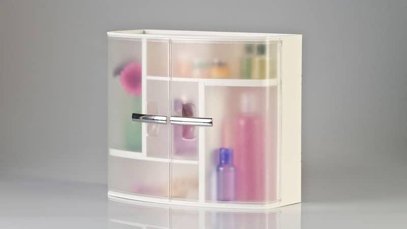 Шкаф из пластика в ванную комнату
