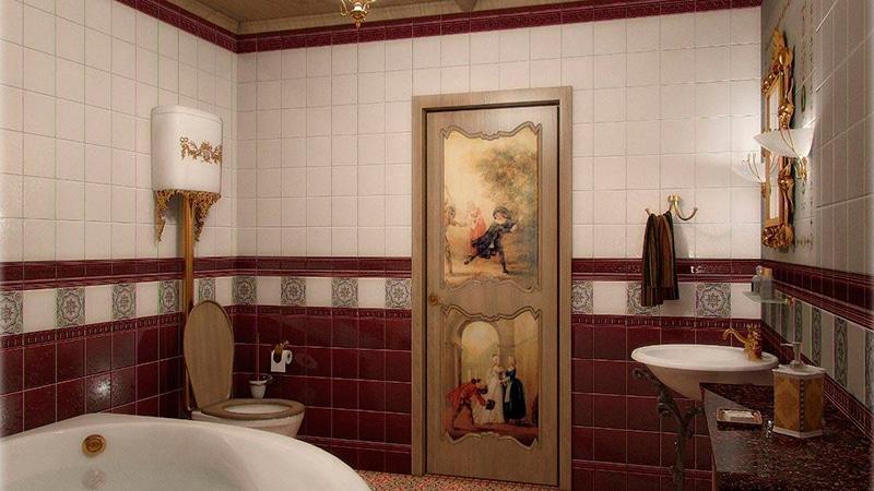 Установка дверей в ванную комнату