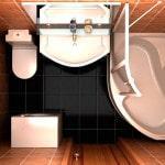 Ремонт в ванной с туалетом