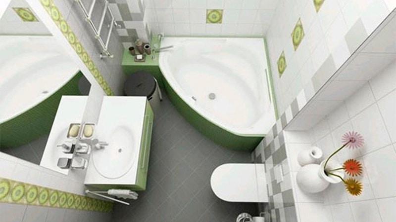 Дизайн небольшой совмещенной ванной комнаты