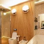 Вариант освещения в ванне