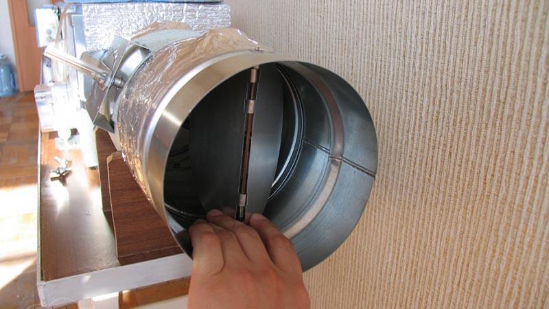 Вентилятор для санузла с обратным клапаном