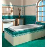 Зеленая плитка для ванной