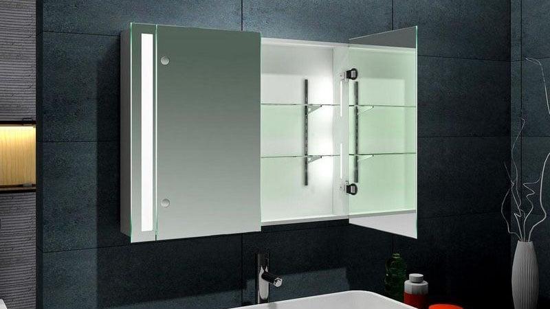 Зеркало со шкафом в стиле хай-тек