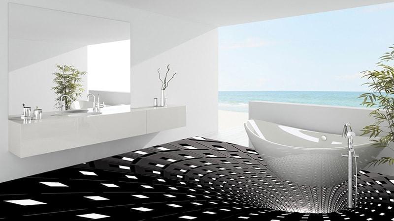 3Д пол в ванной