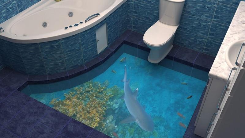 Наливные полы в ванной комнате фото