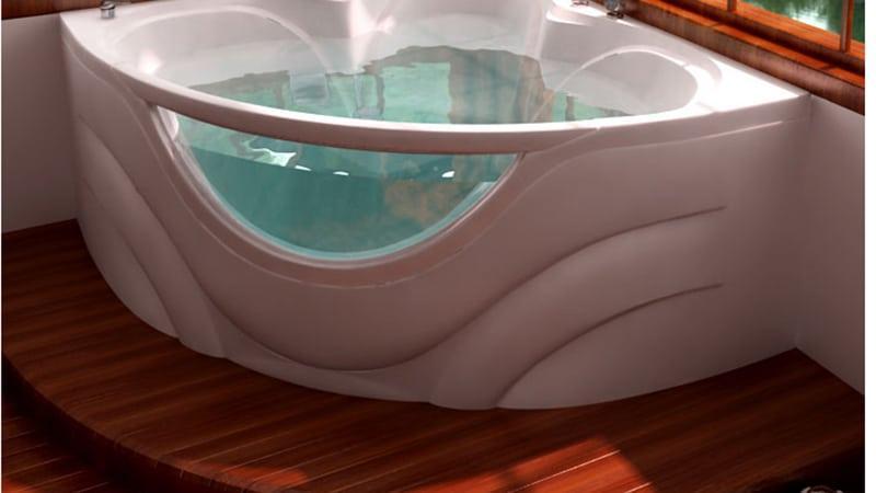 Варианты установки угловых ванн