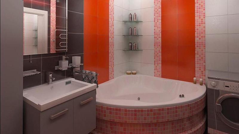 Стилевые решения для угловых ванных